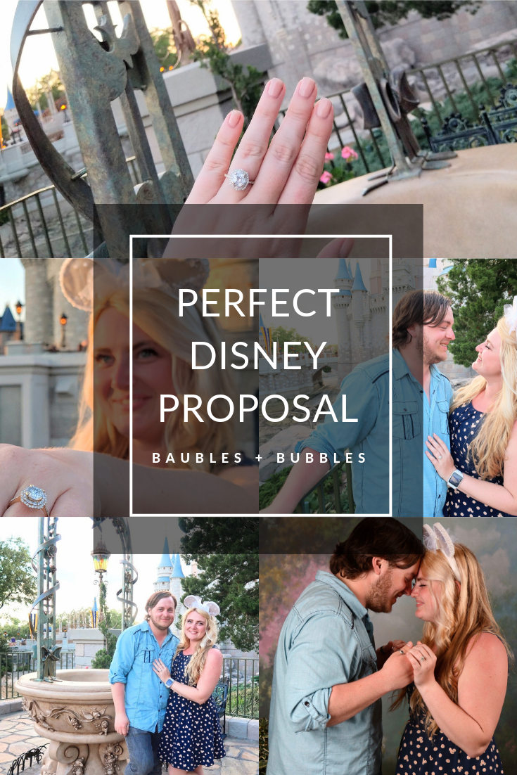 The Perfect Disney Proposal - Disney's Magic Kingdom Engagement | Baubles + Bubbles Blog