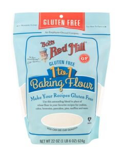 Bob's Red Mill Gluten Free 1-to-1 Baking Flour - Amazon Essentials: Gluten Free Pantry Staples | Baubles + Bubbles